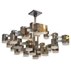 1stdibs.com | Large Cubist Chandelier By Gaetano Sciolari