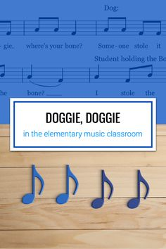 Doggie, Doggie is a fun guessing game for younger students to practice pitch (mi, so, la) or rhythm (quarter and barred eighth notes). You could also use it to sneakily asses your students pitch-matching skills. Music Lesson Plans, Music Lessons, Music Classroom, Classroom Ideas, Music Teachers, Piano Teaching, Teaching Tools, Teaching Ideas, Music Education Activities