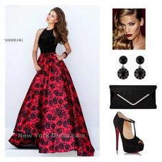 """""""Reduce and Black Prom beauty"""" by alexaluc13 on Polyvore featuring Sherri Hill, Christian Louboutin, Givenchy, Charlotte Tilbury, women's clothing, women's fashion, women, female, woman and misses"""