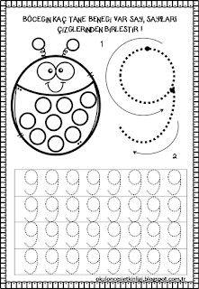 Deneme 1st Grade Writing Worksheets, Number Worksheets Kindergarten, Numbers Preschool, Worksheets For Kids, Kindergarten Math, Montessori Math, Preschool Learning Activities, Preschool Math, Kids Learning