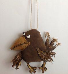 Stuffed animal Animal toy-Crow Soft by NatashaArtDolls on Etsy