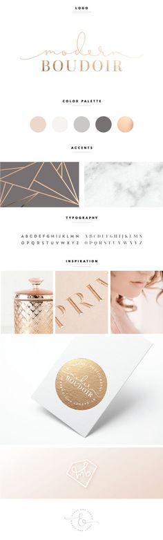 Rose Gold and Gray Brand Design | by Heart & Arrow