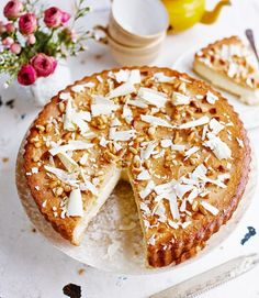 Italian Custard Pie: Eleonora Galasso's take on her Italian grandma's custard pie (also known as torta della nonna) encases a rich white chocolate custard in buttery pastry and tops it with toasted pine nuts. It's perfect for an indulgent afternoon treat.