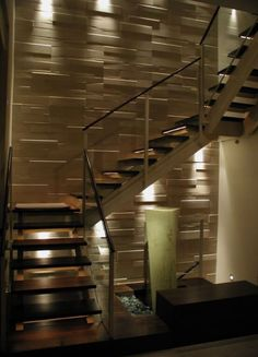 21 Staircase Lighting Design Ideas Pictures Stairs To The Moon intended for Modern Staircase Lighting - Home Interior Design Home Stairs Design, Railing Design, Interior Stairs, Home Interior Design, Stair Design, Room Interior, Interior Modern, Staircase Lighting Ideas, Stairway Lighting