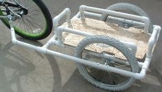Dennis's PVC Bike Trailer Concept Realized | BikeShopHub Blog