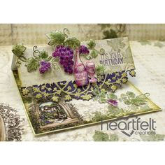 Heartfelt Creations - Italiana Riviera Wine And Grapes Card Project