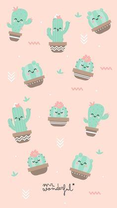 Fruit wallpaper pattern 64 ideas for 2019 Cactus Backgrounds, Cute Wallpaper Backgrounds, Wallpaper Iphone Cute, Galaxy Wallpaper, Screen Wallpaper, Cute Wallpapers, Trendy Wallpaper, Wallpaper Ideas, Cute Disney Wallpaper