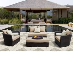 Venice 4-piece Patio Modular Deep Seating Lounge Set by Sirio™