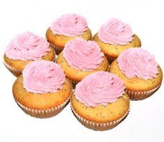 Briose cu mac si visine #reteta  #desert #briose Desert Recipes, Mini Cupcakes, Deserts, Muffin, Mac, Breakfast, Food, Morning Coffee, Desserts
