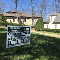 Call us today for your free inspection and look for the drake exteriors sign in a yard near you! Drake, Better Business Bureau, Local Companies, Roofing Contractors, South Carolina, Yard, Exterior, Georgia, Pictures
