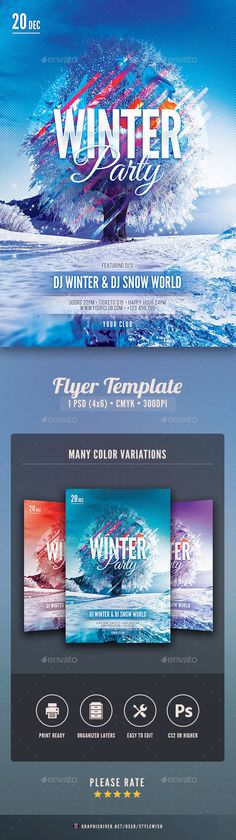 Grand Opening Flyer Psd flyer templates, Grand opening and Flyer - winter flyer template