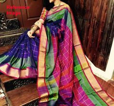 Check out this item in my Etsy shop https://www.etsy.com/in-en/listing/516202557/uppada-violet-color-checks-silk-saree