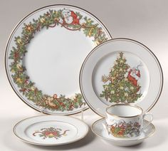 St. Nicholas Christmas china by Fitz and Floyd, got some of these from ...