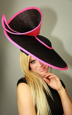 NEW+S/S+2014+Coral+stunning+structured+hat+by+by+GemmaJMillinery
