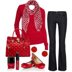 Fun, casual valentines day outfit!