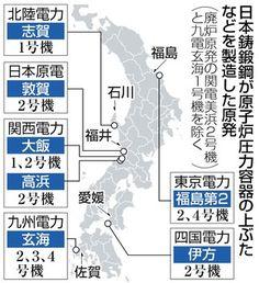 東京新聞:廃炉2基も「日本鋳鍛鋼」製 仏で圧力容器の強度不足疑い:社会(TOKYO Web)