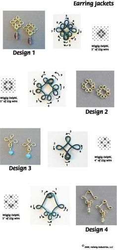Wire and Beads Earring Jackets made with WigJig jewelry making tools and jewelry supplies. #jewelrymakingtools #jewelrymakinghacks #jewelrymakingsupplies #beadedjewelry #jewelrymakingwire #jewelrymakingbeads