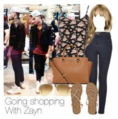 """""""REQUESTED: Going shopping with Zayn"""" by style-with-one-direction ❤ liked on Polyvore featuring River Island, Topshop, MICHAEL Michael Kors, Billabong, Ray-Ban, GUESS, OneDirection, 1d, zaynmalik and one direction 1d zayn malik"""
