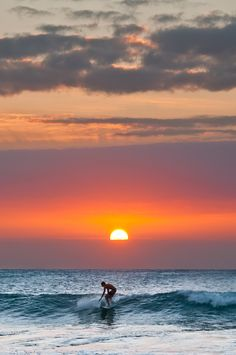 Surfing the Sunset Wave