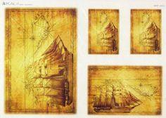 Rice Paper for Decoupage Decopatch Scrapbook Craft Sheet Sailboat 2