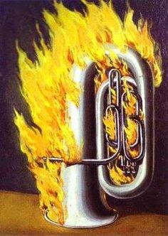 La découverte du feu, par René Magritte