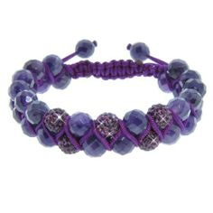 Double Row Amethyst and Purple Czech Crystal Macramé Bracelet (8mm) Amazon Curated Collection. $38.00. The natural properties and composition of mined gemstones define the unique beauty of each piece. The image may show slight differences to the actual stone in color and texture.. Made in China. Gemstones may have been treated to improve their appearance or durability and may require special care.. Save 56% Off!