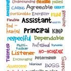 Here is a little subway art that you could frame for your assistant principal for boss's day....