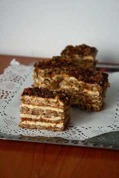 Prăjitură cu nucă - The secret ingredient is one heaping teaspoon of love Dessert Recipes, Desserts, Something Sweet, Banana Bread, Food To Make, Main Dishes, Ice Cream, Sweets, Cookies