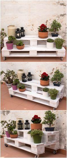 10 muebles hechos con palets para cocinas 1 cocinas for Estantes para plantas exteriores