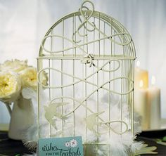 Buy pretty white wedding birdcages from Australian Favors, where we offer gorgeous wedding favors & accessories.Wedding Birdcage in White - This decorative birdcage is an incredible addition to your reception.Wedding Birdcage Wishing Well in White - T Card Box Wedding, Wedding Favours, Wedding Reception, Our Wedding, Wedding Ideas, Wedding Stuff, Reception Ideas, Dream Wedding, Wedding Inspiration