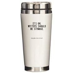 Writers Quote Travel Mug. Hubby needs to get me one for my on-the-go coffee!/Spisateljski citat na šolji za putovanje. Muž treba da mi nabavi jednu za kafu za poneti!