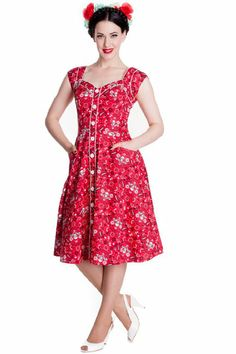 Amazon.com: Hell Bunny Red Colorado Dress: Clothing