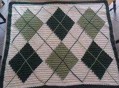 Argyle Crochet Afghan Pattern : ARGYLE BLANKET CROCHET PATTERN Crochet Patterns Only