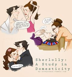 Sherlolly: A Study in Domesticity. I've never shipped them before, as I love love love Johnlock, but this is so cute!
