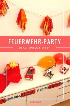 Feuerwehr-Party: Coole Tipps für günstige und selbstgebastelte Deko, Spiele und Essen. | Mehr Infos zu unserer Deko, Spielen und dem Essen zur Feuerwehrparty auf Mamaskind.de