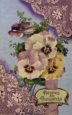 A pansy for your thoughts.