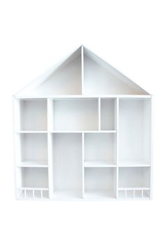 Hylla - Hus Barnhylla - 52 x 58 cm från Jabadabado kr - Fröken Fräken House Made, Kids House, Kids Bedroom Accessories, House Shelves, Box Houses, Wooden Dollhouse, Kids Room Design, Wooden House, Wooden Shelves