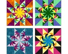 Falcon's Star paper pieced quilt block pattern by PieceByNumberQuilts