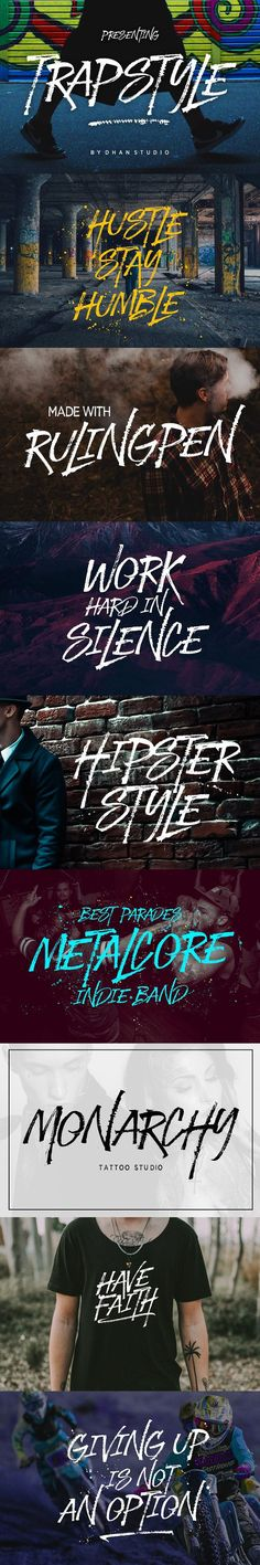 Trapstyle Font. Display Fonts. $11.00