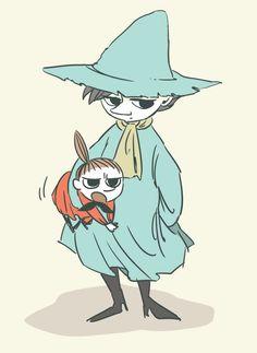 スナフキン&ミィ Moomin Valley, Tove Jansson, Little My, Spirit Animal, Art Inspo, Illustrations, Art Drawings, Fan Art, Animation