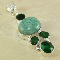 Amazonite Emerald Pendant $35 Emerald Pendant, Gemstone Rings, Gemstones, Jewelry, Jewlery, Gems, Jewerly, Schmuck, Jewels