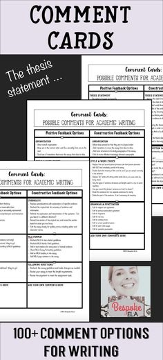 This product by Bespoke ELA contains a handout with five tips for writing effective comments during peer revision and coaches students on how to go about giving thoughtful, quality feedback on academic essays in a supportive and encouraging manner. Great for writing workshop in middle school and high school English Language Arts. by Bespoke ELA