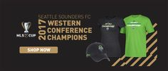 #MLS  Get your Seattle Sounders 2017 Western Conference Championship gear now!