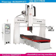 5 Axis CNC Wood Carving Machine 5-Axis CNC Router For Aerospace Plastics Wind Energy Composite Industries #WoodworkingCnc