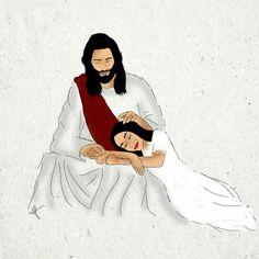 Jesus Christ Painting, Jesus Art, My Jesus, God Loves You, Jesus Loves, Love One Another Quotes, Jesus Cartoon, Bibel Journal, Jesus Christ Quotes