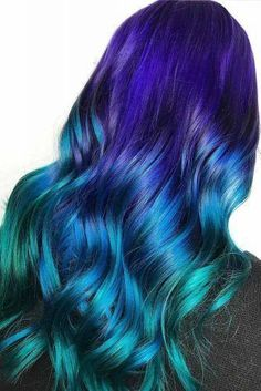 Galaxie-Haar-Ideen Galaxie Hair Ideas 30 Mystic Galaxy Hair Ideas To Rock Twist Hairstyles, Pretty Hairstyles, Ponytail Hairstyles, Pretty Hair Color, Hair Dye Colors, Cute Hair Colors, Hair Colour, Dye My Hair, Dip Dye Hair