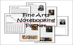 Classical Conversations CC Cycle 2 Fine Arts Notebooking Pages for Tin Whistle & Music Theory, Great Artists, and Famous Composers.