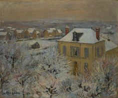 Gustave Loiseau (French, 1865-1935), House in Winter, 1911. Oil on canvas, 53.97 x 65.08 cm.