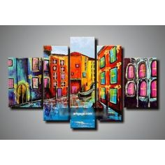 100% hand painted abstract 5 panel canvas art living room wall decor painting modern sets home decoration kungfu painting