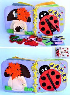 Ruhig ruhig Buch/Kinder-und Jugendbuch / Busy Book, Aktivität, Montessori, Fabric Book Reisespielzeug (14 Seiten)